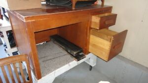 DESK AND CHAIR, 50'S STYLE. REDUCED TO $30 FROM $50