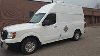 2012 Nissan NV 3500 High Roof w Reefer & Insulated Cargo Area