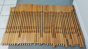 41 wood stair pickets