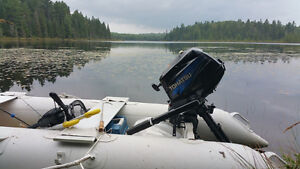 fishing kaboat with 3.5 outboard engine