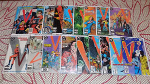 V THE VISITORS ARE OUR  FRIENDS #1 -18, COMPLETE SET DC COMICS