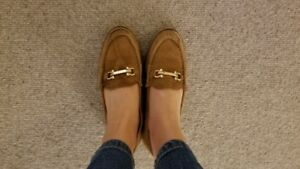 Brown Suede Topshop Shoes with Crossbar from UK, UK 4.5/US 6.5