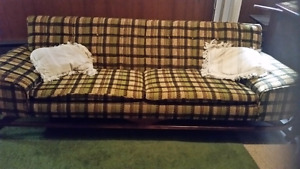 Vintage Couch and Chair. Good condition.