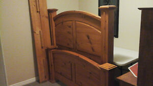 Solid   Wood  Headboard  , Footboard  and   Sides