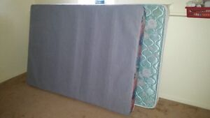 Double mattress, boxspring, and frame