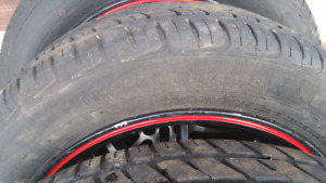 All season tires 215/55 R16 with rims