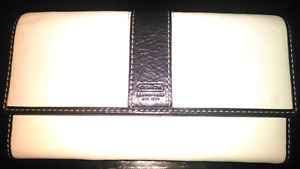 Authentic Coach Leather Checkbook Wallet