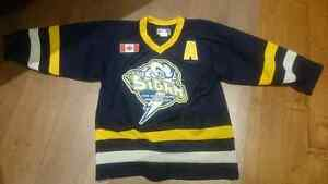 2 Erie NorthShore Storm travel hockey jerseys size youth large