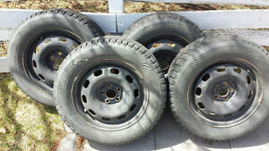 Bridgestone Blizzak Winter Tires and Rims 205/60R15  91R