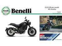 2018 BENELLI LEONCINO 500..125.57 OVER 48M WITH A 199 DEPOSIT. APR 9.9%