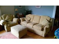 Marks & Spencer Three piece suite with footstool