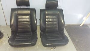 BMW seats - leather