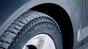 Michelin X-ICE Xi3 Winter Tires on Black Rims 16""