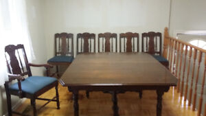 Antique table and 6 chairs for sale need gone ASAP