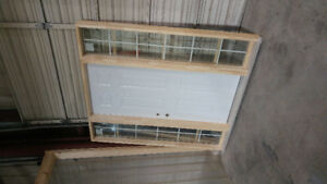 Exterior door and frame with windows on both sides