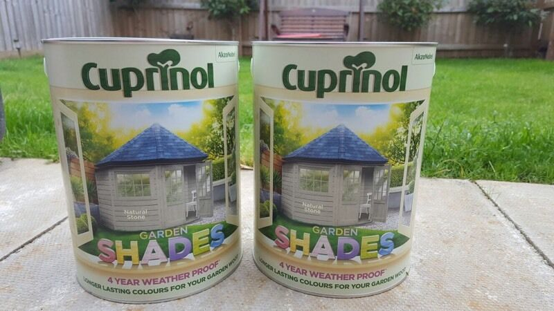 Cuprinol Fence Paint Natural Stone 2 X 5litre Tins In
