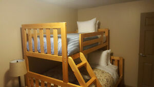 Wooden Twin Bed (UK Single) with Mattress and Bedding