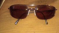 Prescription sunglasses found. BROWN
