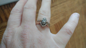 two piece engagement ring set for sale