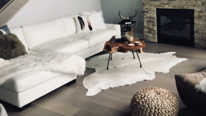 White Leather couch, Country Furniture/CF Interiors