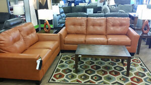 Paulie Orange Sofa & Love seat