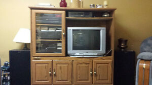 Sauder--TV wall unit, Good condition very solid