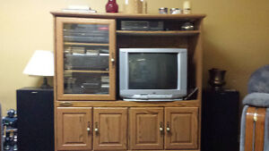 Sauder--TV wall unit, Good condition