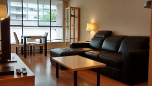 Fully Furnished one bedroom on Robson avail June 1st