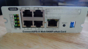 UPLINK ConnectUPS X Web SNMP X Hub Card