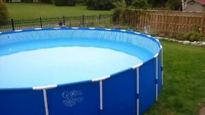 "pool 25' above ground 52"" high"