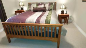Queen Bed and Serta Mattress
