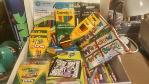 Large lot - Crayola crayons, pencil crayons, window writers