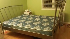 ikea metal bed frame, double