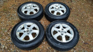 195/60R15 2002 HONDA ACCORD TIRES RIMS 4 x 114.3 4 TIRES ON stee