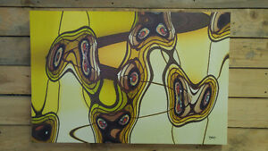 Large Abstract on Canvas 3 feet x 2 feet!