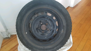 4 Steel wheels with Nokian winter tires Size: 16 x 6.5