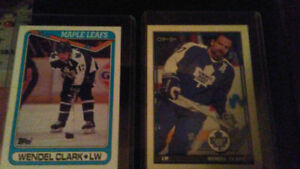Wendel Clark Toronto maple leafs cards