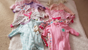 Lot of girls baby clothes size 0-6 months