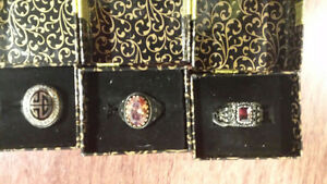 MEN'S STERLING SILVER RINGS ALL RINGS $89.95ea (obo sale)
