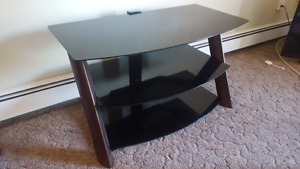 Tinted glass TV stand. $75