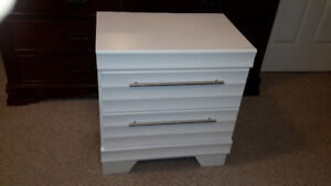Night Table Stand with Drawers White