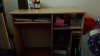 DRESSER, DESK, ARMCHAIR, SHELF