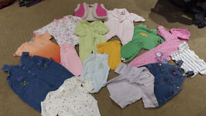 -Girls size 3 to 12 months