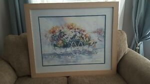 Watercolours Wagon of Flowers