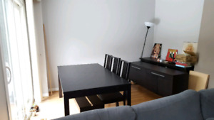Delivery+IKEA BJURSTA dining table+8 chairs+sideboard media unit
