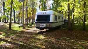1991 Silver Streak 35 foot travel trailer.