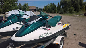 Pair of 1996 Seadoo GTX with Trailer