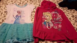 Girls Size 8 Frozen Clothing in Great Condition