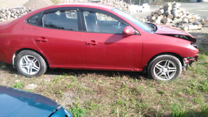 Hyundai elantra 2009 for parts or repair.