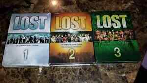 Lost (dvds) - seasons 1, 2 , 3